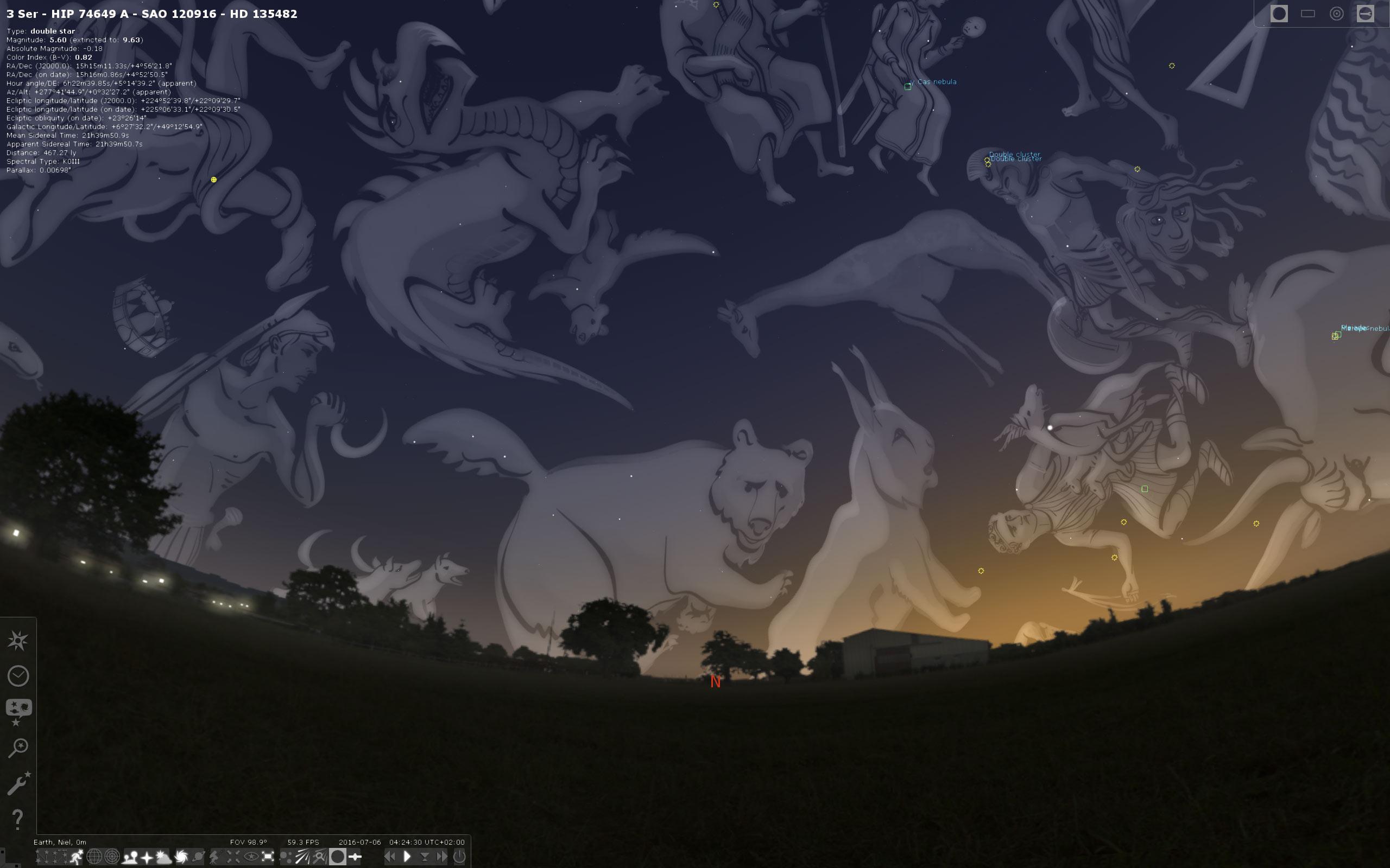 Stellarium constellation art