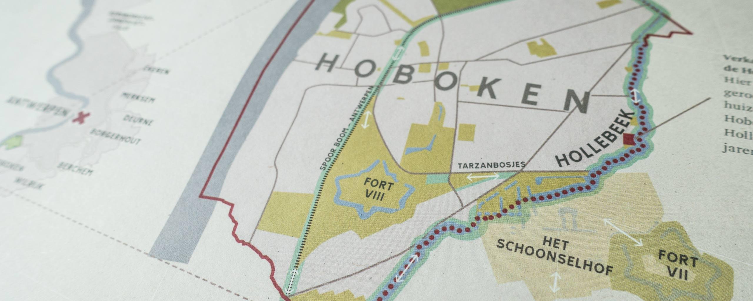 Inset map of Hoboken, Antwerpen