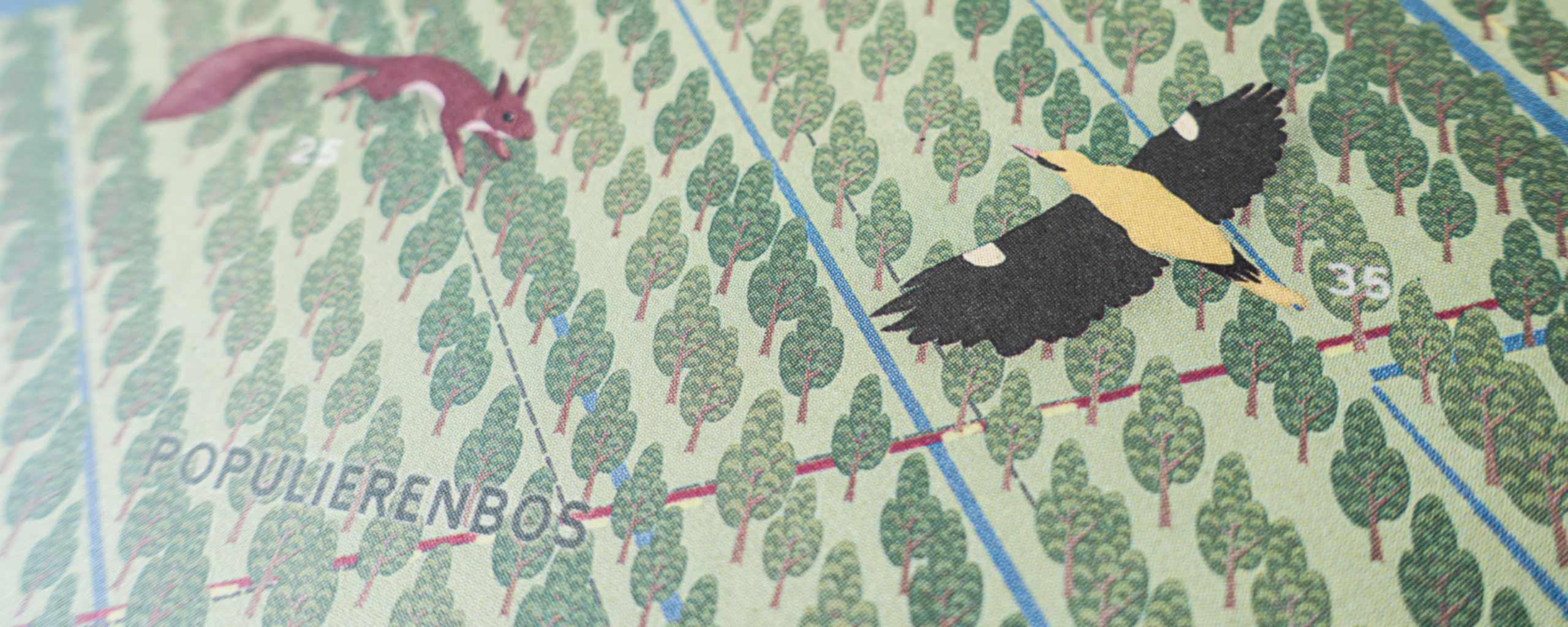 Illustrated Map Of De Hobokense Polder
