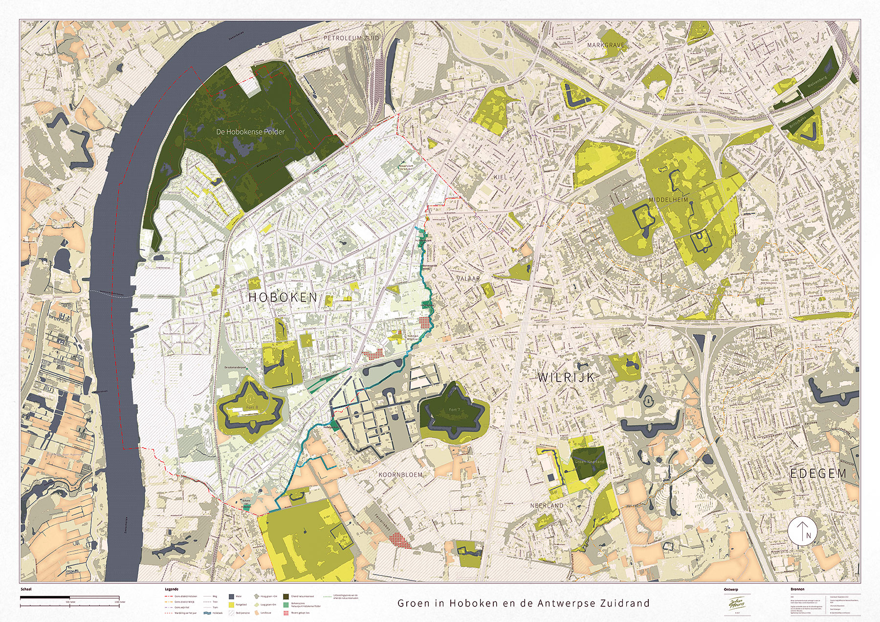 map of green spaces
